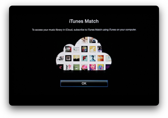 Apple TV iTunes Match