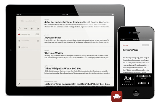 Readability app iPhone iPad