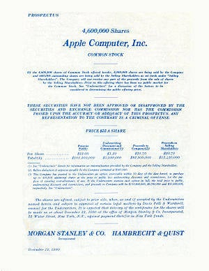 Apple IPO 1980
