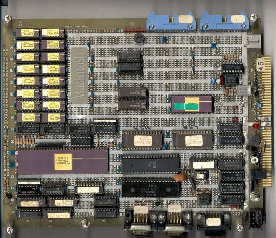 First Macintosh wired board