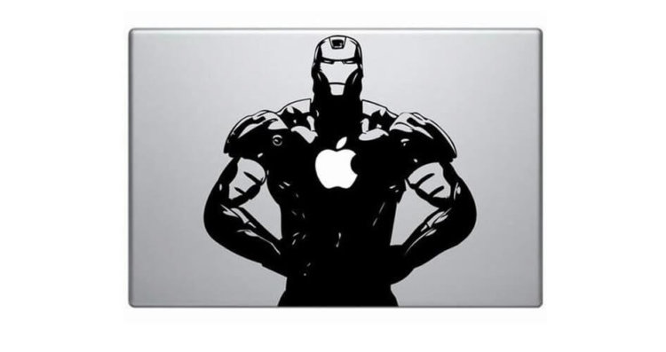 MacBook и Iron Man