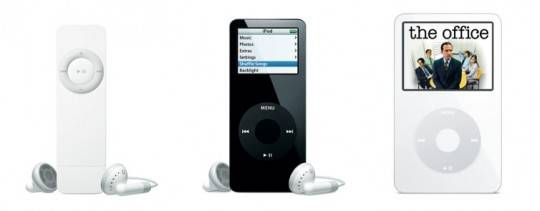 iPod Shuffle 2005 and iPod nano 2005 and iPod with video 2005