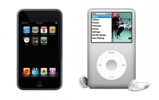 iPod Touch 2007 and iPod Classic 2007