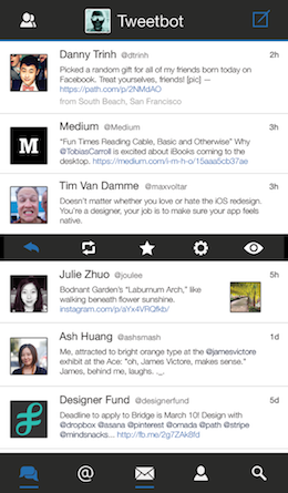 Tweetbot iOS7 mockup black