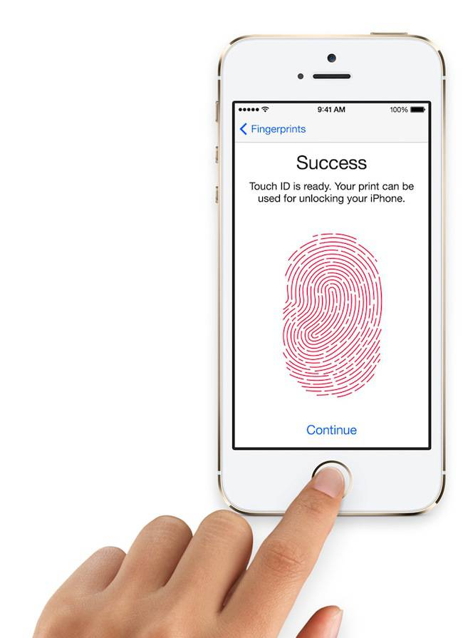iPhone 5S - Touch ID в действии