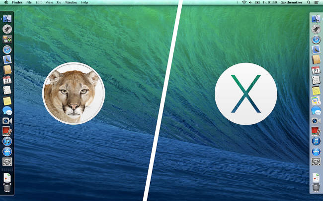 Dock OS X title