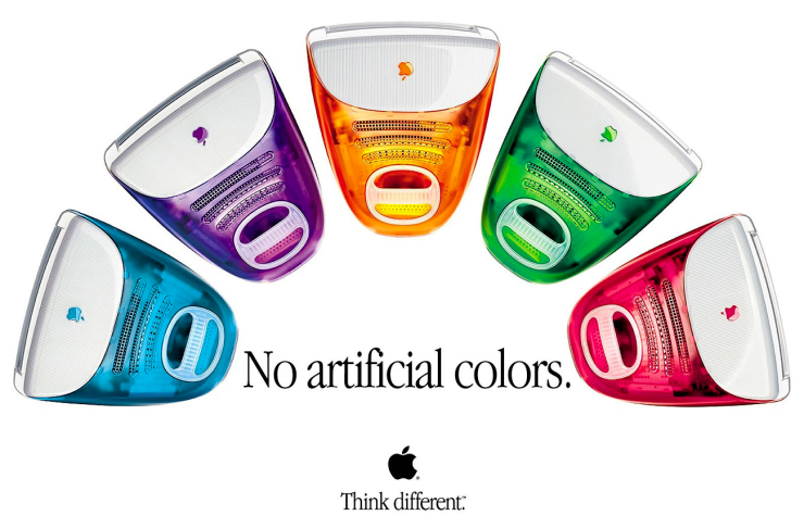 iMacs artificial colours