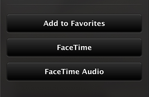 Face Time Audio Button in FaceTime