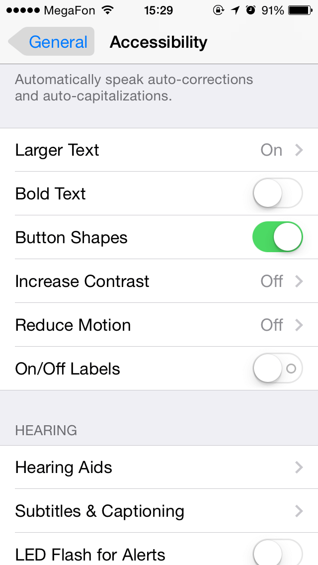 Grey Buttons settings