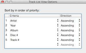 5 Track List View Options