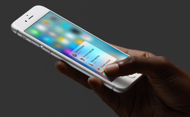 3D Touch в iPhone 6s