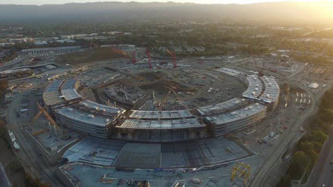 apple-campus-2-drone-footage-september