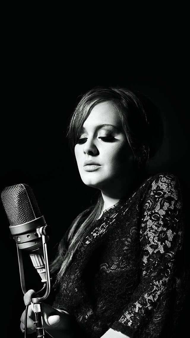 adele-music-singer-dark-bw-celebrity-iphone-5
