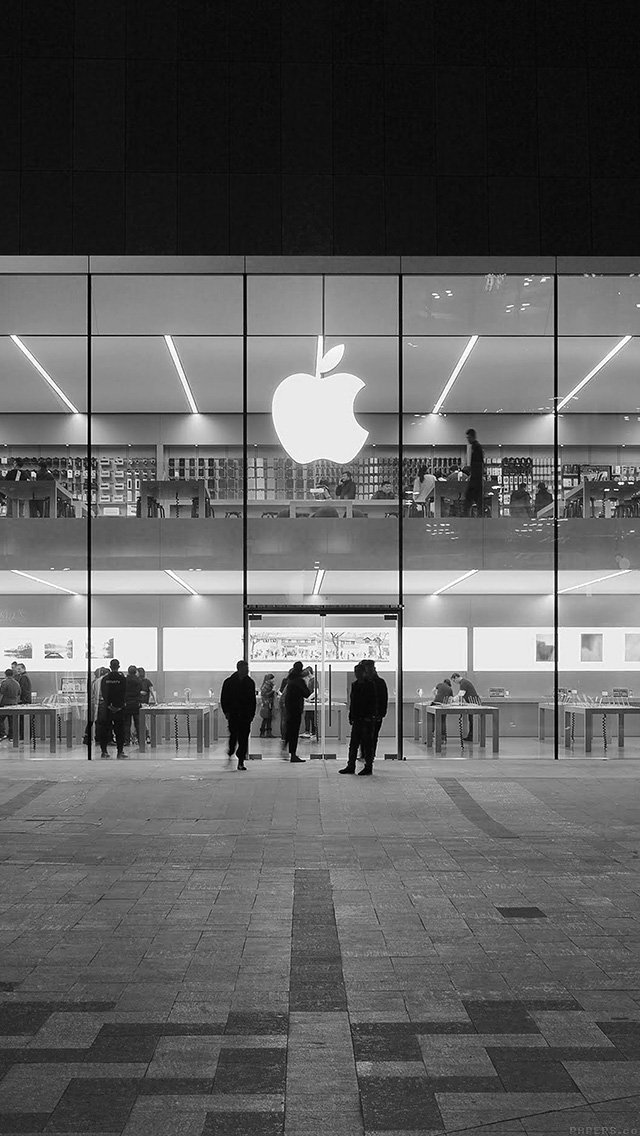 apple-store-front-bw-dark-architecture-city-iphone-5