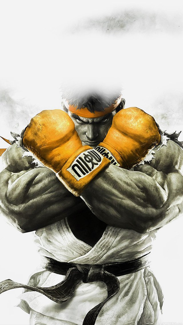 street-fighter-gold-ryu-art-illust-game-iphone-5