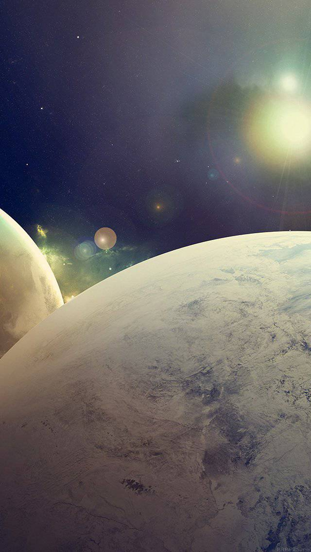 flare-space-art-dark-planet-nasa-iphone-5